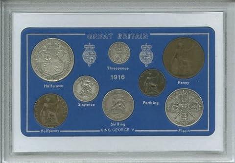 1916 GB Great Britain British Coin Birth Year Vintage Retro Antique Gift Set (101st Birthday Present)