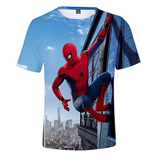 Expedition S/s Shirt (WQWQ Casual T-Shirt für Herren und Damen Shirt Spider-Man Heroes Expedition Kurzarm Rundhals Fitness Schnelltrocknender Schweiß XXL 3XL,A,S)