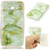 Jiejiewyd - Funda para teléfono (muchos modelos), gel de silicona TPU, blanda, semitransparente, diseño de mármol