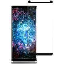 Samsung Galaxy Note 8 Cristal Templado , Herhea Note 8 Protector de Pantalla Marco Fijo Cobertura Completa HD Claro, Anti-Burbuja, Anti-Scratch , Fácil Instalación-3D Curvado Protector de Pantalla de Vidrio Templado