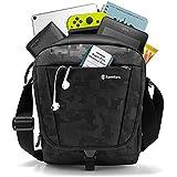"tomtoc Tablet Shoulder Bag Messenger Bag for 10.5"" iPad Air 2019 | 11"" iPad Pro 2018, Large Travel Storage Shoulder Strap and Accessory Pocket, RFID Blocking for Credit Card, Waterproof Black"