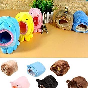 ZZuffig Rats Lit Pet Hamster Cage d'hiver Chaud hamac Suspendu Ours Mignon House Bed Mat pour Les Petits Animaux à Fourrure, Les Petits Animaux