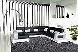 SAM® Ecksofa Ariola schwarz weiß 392 x 243 x 181 cm rechts
