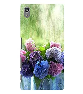 Colourful Flowers 3D Hard Polycarbonate Designer Back Case Cover for Sony Xperia Z5 Premium (5.5 Inches) :: Sony Xperia Z5 Premium Dual