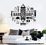 42x62cm, Tatuaggio a muro, Pennello, forbici da barba, pettine, baffi, toelettatura, barbiere, salone, taglio di capelli, salone, finestra, decorativo, camera da letto, decorazione
