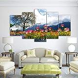 kxdrfz Leinwand Wandkunst Bilder Wohnzimmer Dekor 5 Stücke