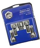 Neubauer BC1204 Raddiebstahlsicherungsbolzen M12x1,5, Kegelsitz, Schaftlänge 24,0mm, Schlüsselweite 17mm/19mm