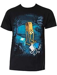 Hora de aventuras de fusión de algodón de los hombres T-shirt
