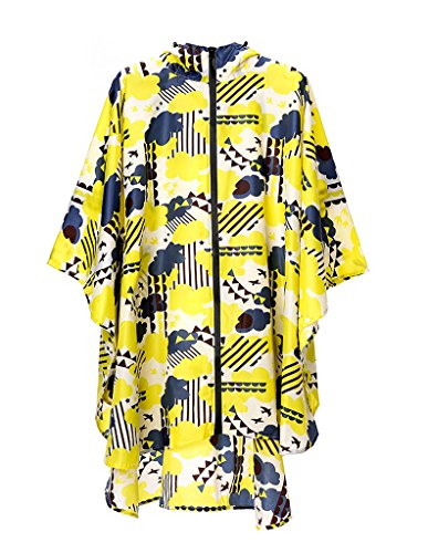 Global- Polyester Individual Tourism Raincoat,adult Walk On Foot Waterproof Men And Women Outdoor Long Section Poncho ( Color : #3 , Size : One size )