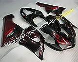 ZX-6R Verkleidung 2005 2006 für Kawasaki Ninja 636 ZX6R 05 06 ZX 6R Red Flames Black Body Motorrad Kit (Spritzguss)
