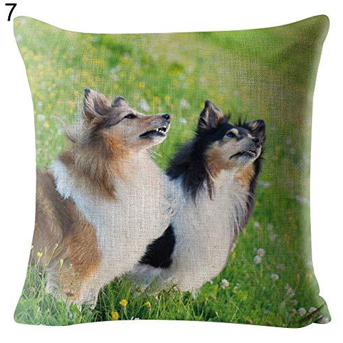 AchidistviQ Schöne Hunde Wäsche Werfen Kissen Tasche Sofa-Bett Kissen Decken Home-Office-Dekor 7# - Werfen Rot Decke Muster