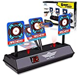 Electronic Digital Target for Guns N-Strike Elite/Mega/Rival Series - Auto-Reset Intelligent Light Sound Effect Scoring Targets Toys for Boys and Girls (A) (Schwarz)