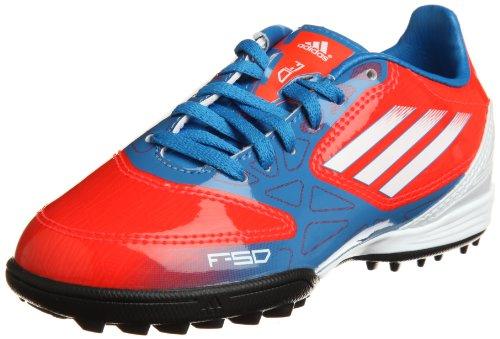 Adidas F10TRX TF J, Fußballschuhe Unisex Kinder - Bleu/Rouge