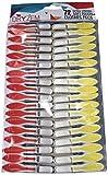 dryzem Premium Pinzas extra fuerte pinzas de ropa con mango suave extra grande Pack 72para línea de lavado
