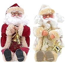 Juguete de Papá Noel Regalo de Navidad Sentado Muñeca de Felpa Juguetes de Franela Decoración de
