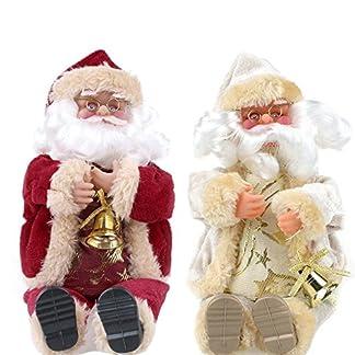 Juguete de Papá Noel Regalo de Navidad Sentado Muñeca de Felpa Juguetes de Franela Decoración de Navidad 25 cm Altura 2 Unids
