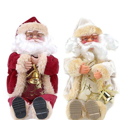 Juguete de Papá Noel Regalo de Navidad Sentado Muñeca de Felpa Juguetes...