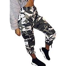 79181a97633c Zarup♥♥♥[Pantalones de Yoga], Pantalones de Camuflaje para Mujer Pantalones