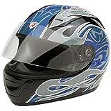 Bottari Moto Casque Extreme, Noir/Bleu, M