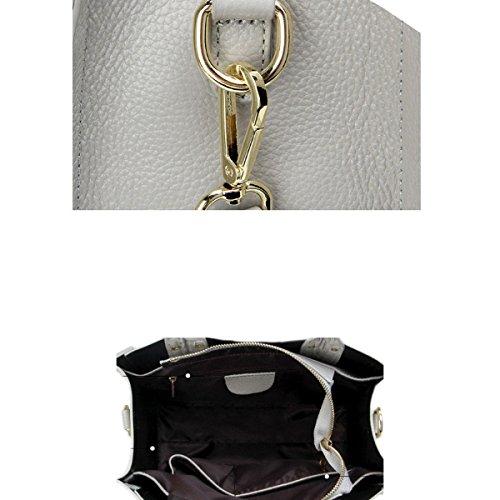 Damen Krokodil Drucken Top-Griff-Handtaschen-Schulter-Umhängetasche Multicolor Purple