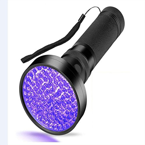 Preisvergleich Produktbild Haustier-Urin-Detektor / Schwarz-Licht-UV-Taschenlampe,  100 LED Professional Grade 395NM UV-Licht-Detektor Für Hund / Katze Urin,  Trockene Flecken,  Bettwanze,  Fleck-Erkennung Best Für Kommerzielle / Domestic / Hotel Verwendung