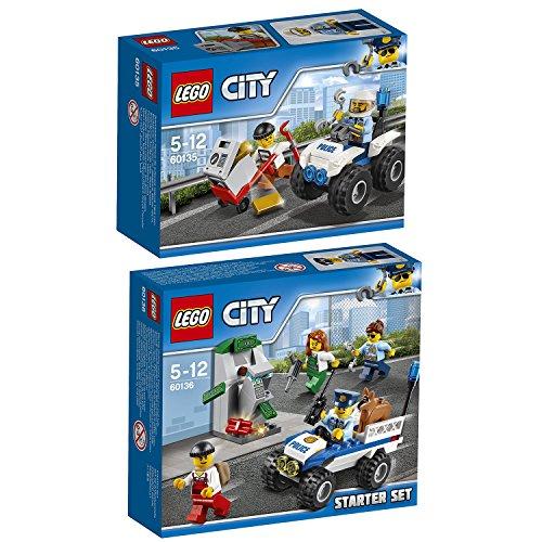 Preisvergleich Produktbild Lego CITY 2er Set 60135 60136 Gangsterjagd auf Quad + Polizei-Starter-Set