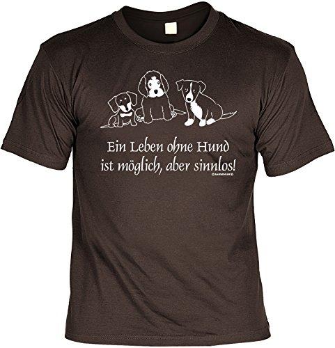 Preisvergleich Produktbild Witziges Sprüche Fun T-Shirt : Ein Leben ohne Hund ist möglich,  aber sinnlos!