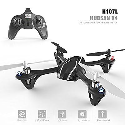 Hubsan X4 H107L RC Quadcopter (H107L, Black+White)