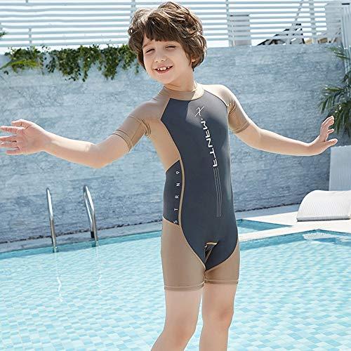 IOIOA Kinder Neoprenanzüge Jugend Premium Neopren 2 Mm Jugend Kurzarm Shorts Badeanzüge,C,L - Premium-jugend-hosen
