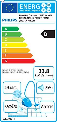 Philips PowerPro Compact FC8477/91 Staubsauger ohne Beutel EEK B (EPA10 Filter), grau - 2