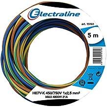 Electraline 25148 N07V-K Cavo Unipolare Unipolare, Sezione 1x25 mm, 5 mt, Marrone/Blu/Verde/Giallo