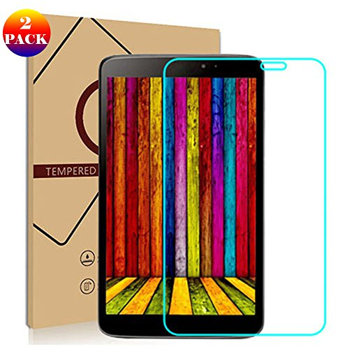 GOGODOG [2 Stück] LG G Pad 8.3 V500 Schutzfolie Display Schutz Temperiert Glas Film Anti Fingerabdruck Kristall klar Transparent Folie Gpad 8.0 V480 (LG G Pad 8.0 V480)