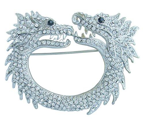 Sindary unico 7cm cristallo austriaco drago spilla ciondolo UKB5007