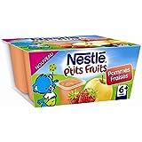 Nestlé p'tits fruits pomme fraise 4x100g dès 6 mois - ( Prix Unitaire ) - Envoi Rapide Et Soignée