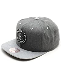Mitchell & Ness Cation Perforated Suede NBA NETS Snapback Grau