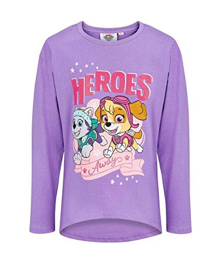 Pat' patrouille 2271, t-shirt bambina, viola mauve, 4 anni