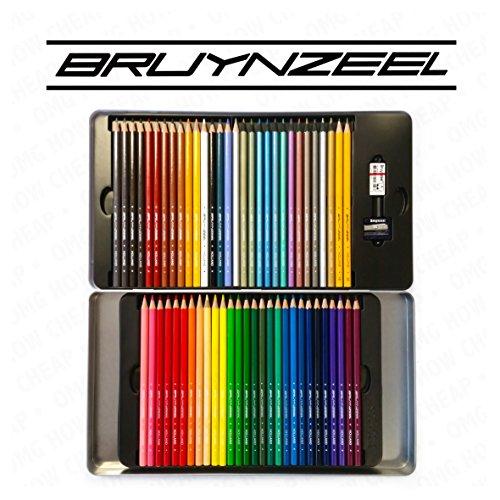 Bruynzeel Super Sixties - 60 Colouring Pencils Set in Metal Gift Tin - Including 12 Metallic Pencils