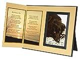 Crafta Frame Pet Lover Erinnerung Geschenk,My Forever Pet Gedicht, Memorial Pet Verlust Bilderrahmen Andenken und Mitgefühl Geschenk-Paket, Ginger with Foil Accent