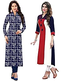 HARI OM CREATION Women's Crepe Dress Material (HOC1023_Mito_Blue_Free Size)