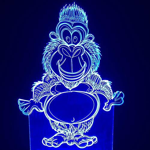 3D Led Monkey Schreibtischlampe 7 Farbe Baby Schlaf Tier Orang-Utan Nachtlicht Schlafzimmer Nachttischlampe Leuchte Dekor Kinder Spielzeug Geschenke