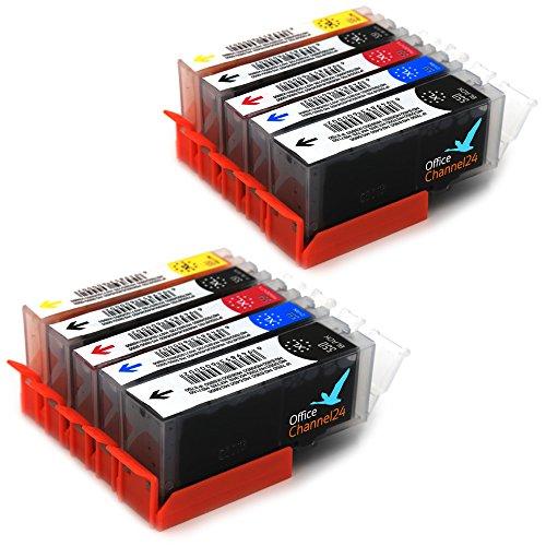 10 Drucker Patronen kompatibel zu Canon PGI-550 CLI-551 für Canon Pixma MG5650 IP7250 IP8750 MG5450 MG5550 MG 5655 MG6350 MG6450 MG6650 MG7150 MG7550 Canon Pixma MX725 MX925 Canon Pixma IX 6850