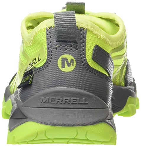 Merrell - Ml-b Hydro Run, Scarpe da trail running, Unisex bambini Amarillo (Citron/Grey)
