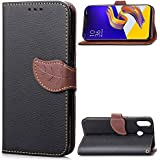 Asus Zenfone 5z ZS620KL Case,[ Shock Absorbent ] Leather Cases PU Leather Kickstand Wallet Cover Durable Flip Case Compatible With Asus Zenfone 5z ZS620KL Black