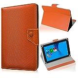 UC-Express Tablet Tasche für Blaupunkt Endeavour 101M Hülle Schutzhülle Carbon Case Cover, Farben:Bronze