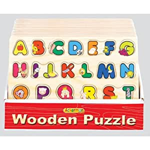 Educational Toys : Wooden Alphabet ABC Puzzle Board