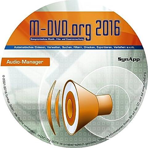 M-DVD.Org 2016 - Audio-Manager - Musik- & Cover-Verwaltung (CD, LP, MP3, uvm.)