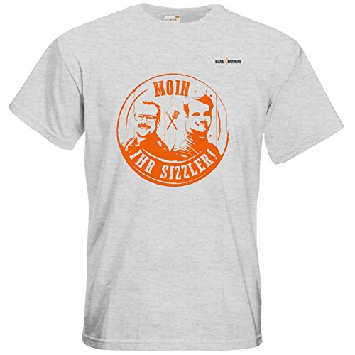 getshirts - SizzleBrothers Merchandise Shop - T-Shirt - SizzleBrothers Grillen - Stamp orange - Sizzler Ash