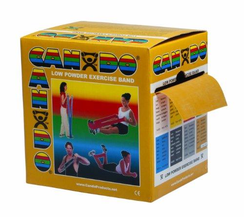 Trainingsband / Gymnastikband, Länge 46 m, Cando® Übungsband - gold (ultra schwer) (Cando-übungsband)