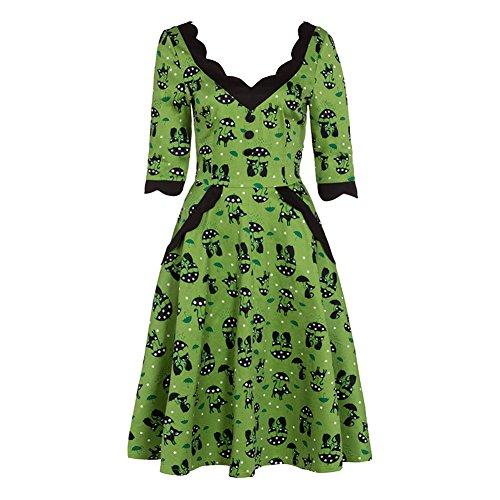 Voodoo Vixen Katnis Plus Size Kleid (Grün) Grün