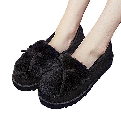 Plüsch Fliege Hausschuhe Kostüm Unicorn Pantoffeln für Mädchen/Erwachsene(Schwarz,EU 39--Schuhe Innenlange (Erwachsene Fliegen Kostüme)